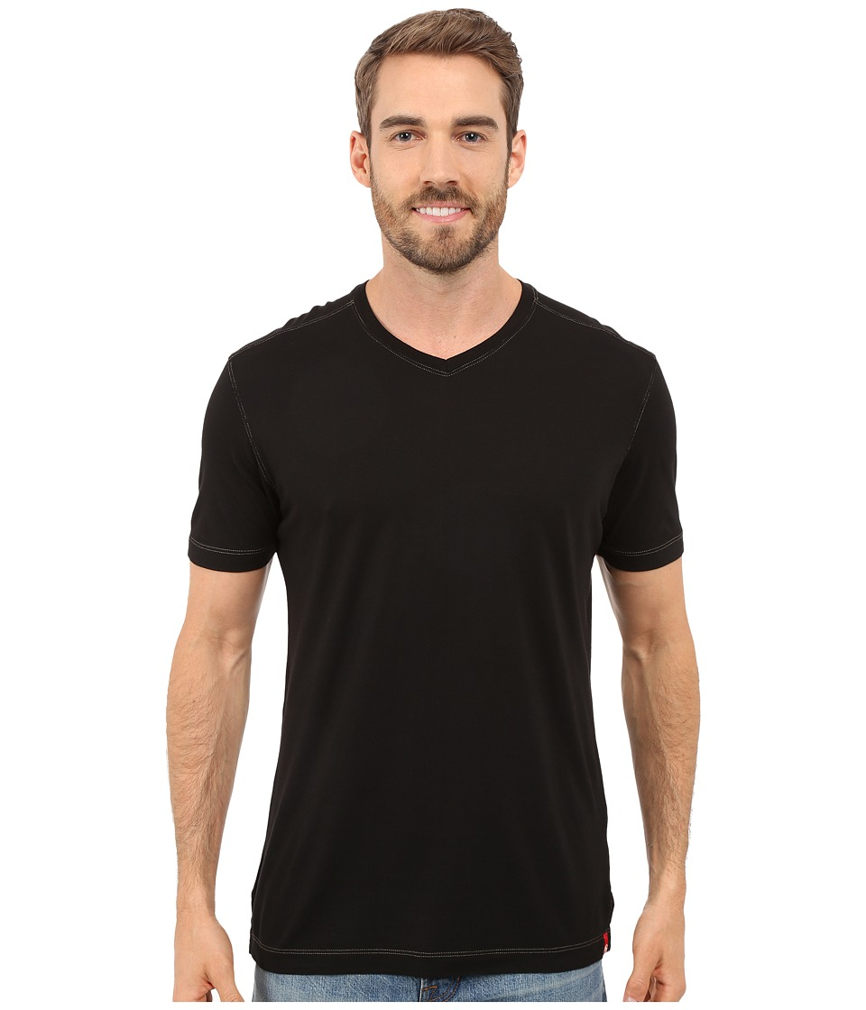Agave Denim - Prosser Supima(r) V-Neck (Anthracite) Men's Clothing