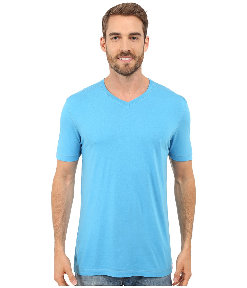 Agave Denim - Prosser Supima V-Neck (Mediterranean Blue) Men's Clothing