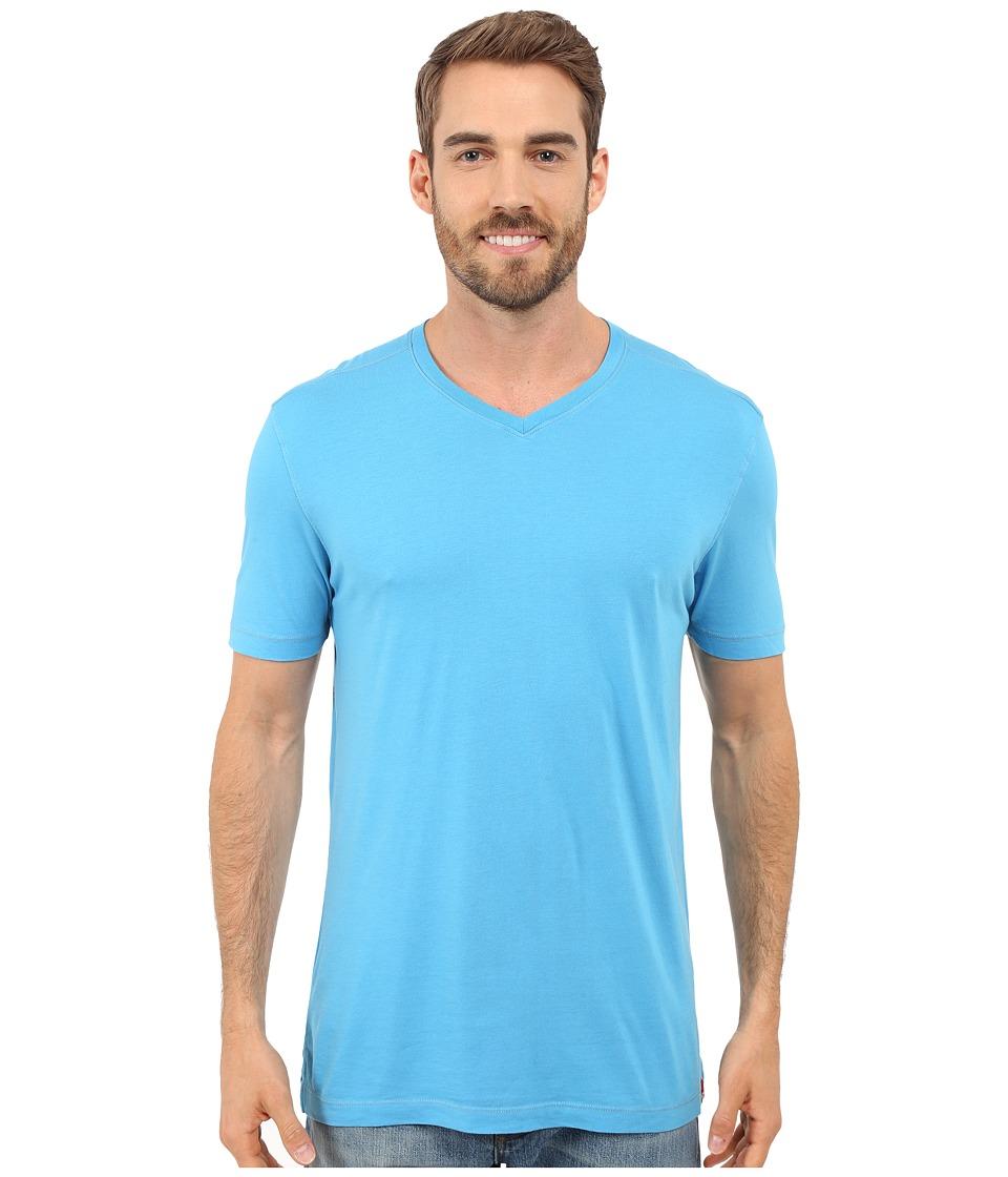 Agave Denim - Prosser Supima V-Neck (Mediterranean Blue) Men's Clothing