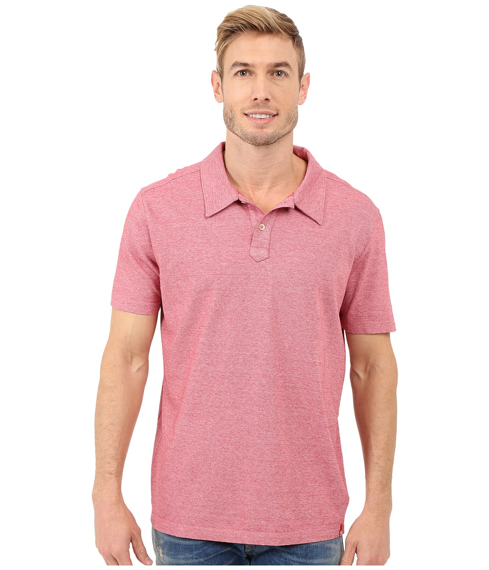 Agave Denim - Hoh Italian Short Sleeve Polo (Berry) Men's Clothing