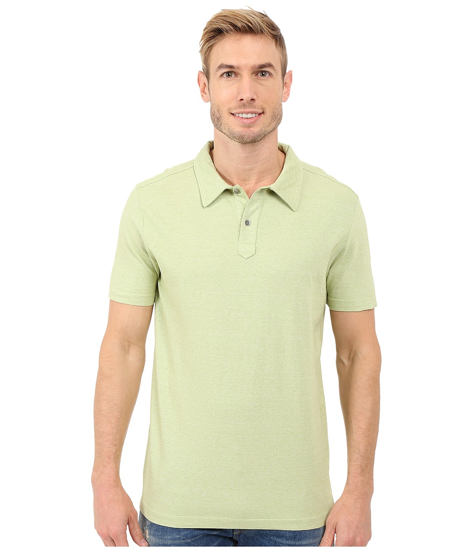 Agave Denim - Hoh Italian Short Sleeve Polo (Lime) Men's Clothing