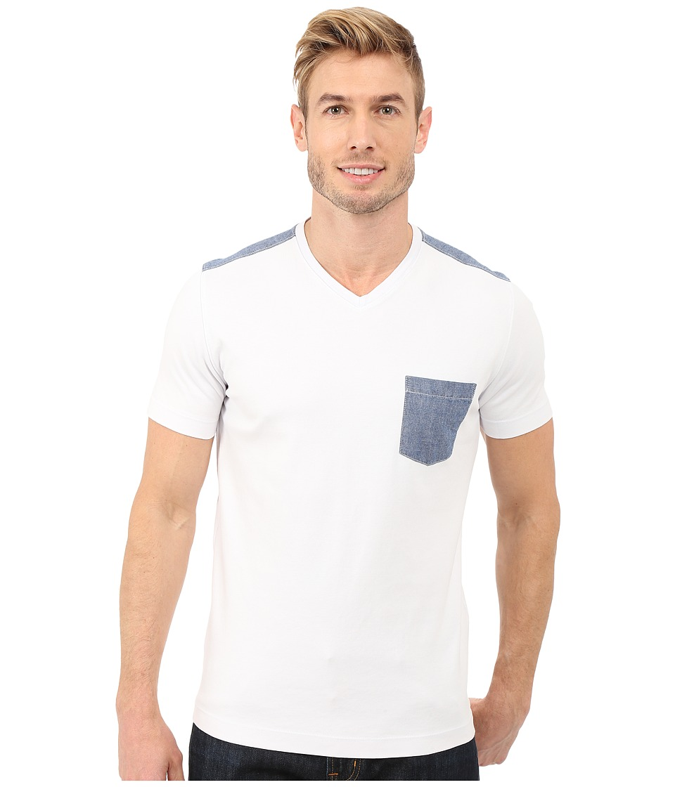 Agave Denim - Klickitat Supima V-Neck (Cloud Dancer) Men's Clothing