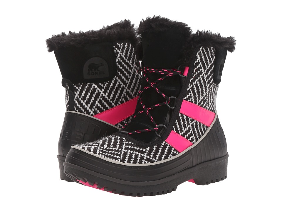 SOREL Kids - Tivoli II (Little Kid/Big Kid) (Black/Pink Glo) Girls Shoes