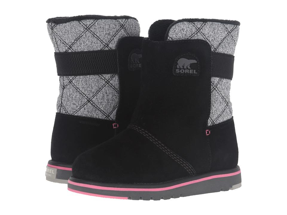 SOREL Kids Rylee (Little Kid/Big Kid) (Black) Girls Shoes