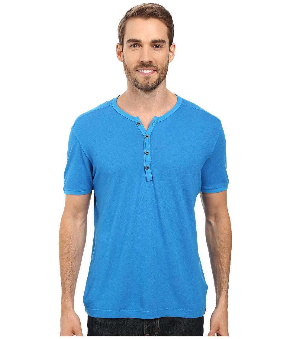 Agave Denim Novo Short Sleeve Henley (Mediterranean Blue) Men
