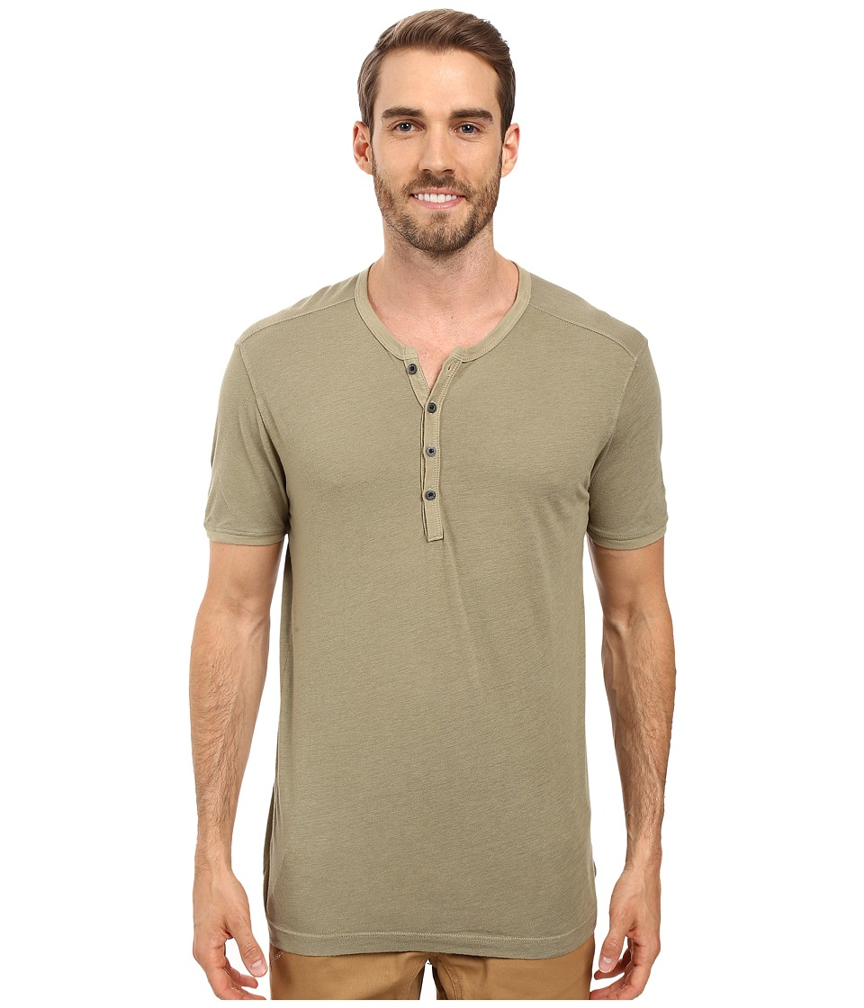 Agave Denim Novo Short Sleeve Henley (Mermaid) Men
