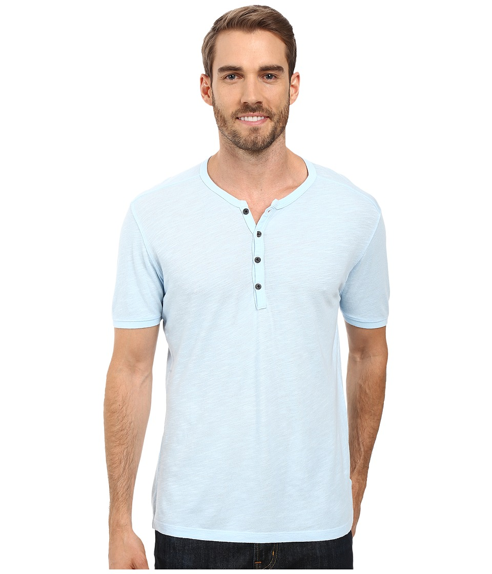 Agave Denim - Novo Short Sleeve Henley (Cool Blue) Men's Short Sleeve Knit