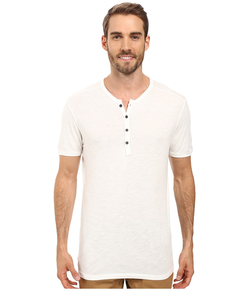 Agave Denim Novo Short Sleeve Henley (Cloud Dancer) Men