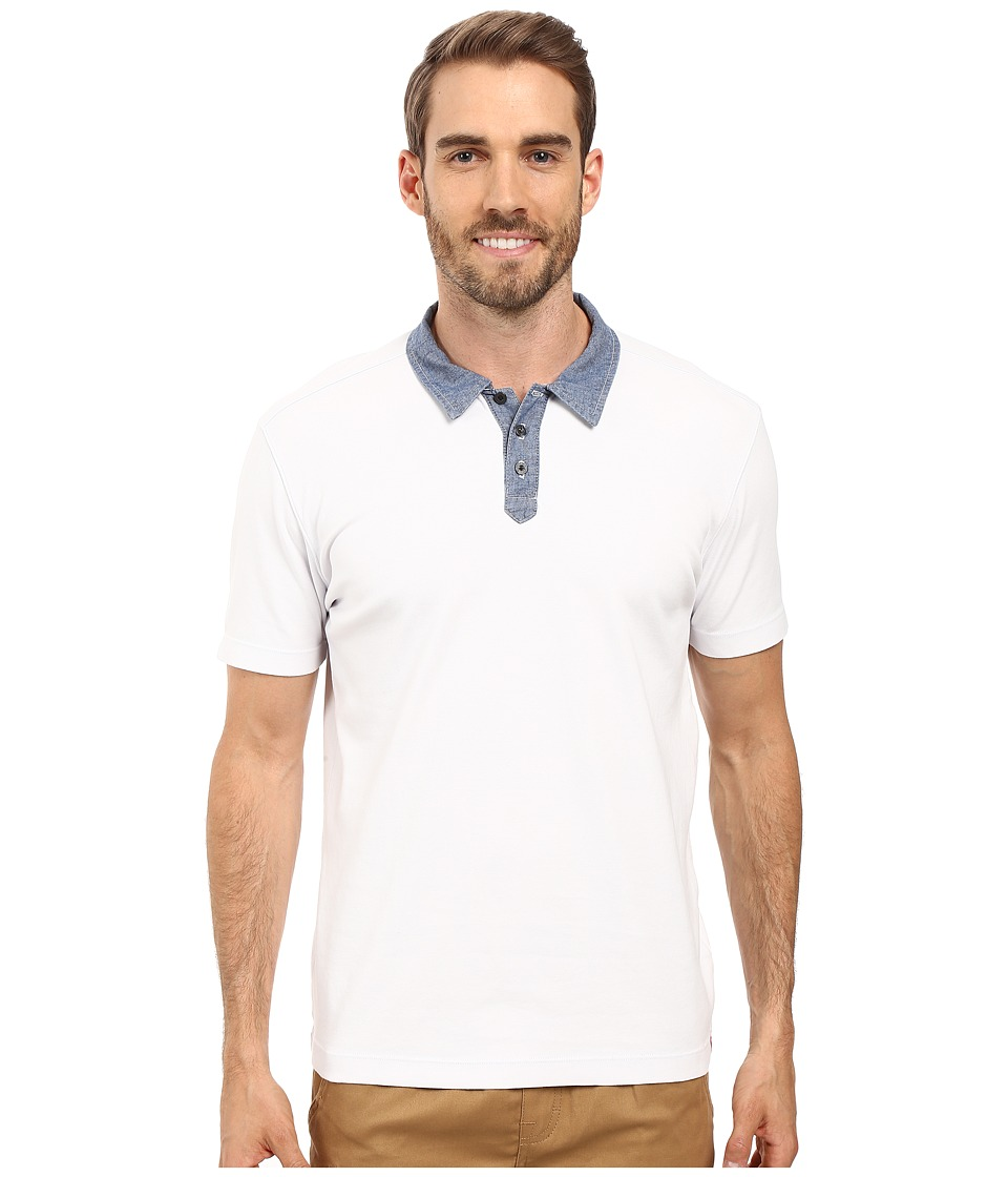 Agave Denim - Usal Short Sleeve Polo (Cloud Dancer) Men's Short Sleeve Pullover