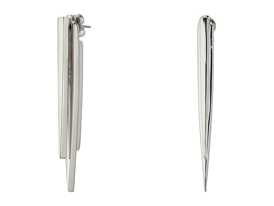 Cole Haan - Front Back Stick Earrings (Light Rhodium) Earring