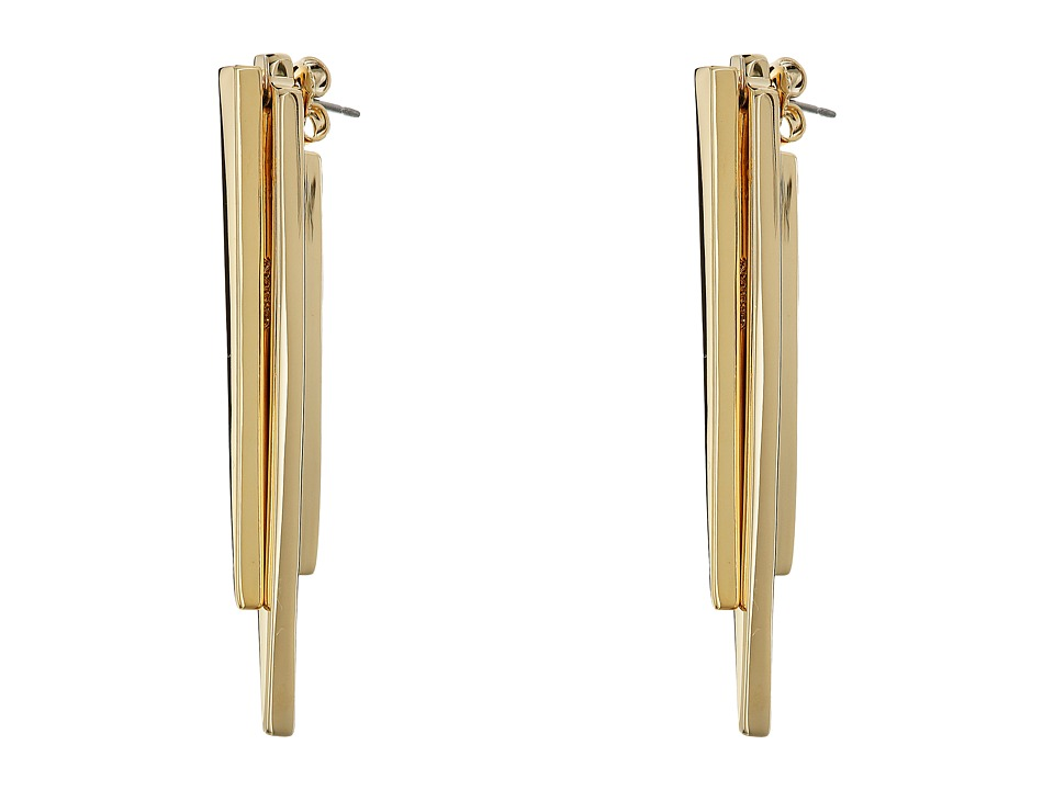 Cole Haan - Front Back Stick Earrings (Gold) Earring