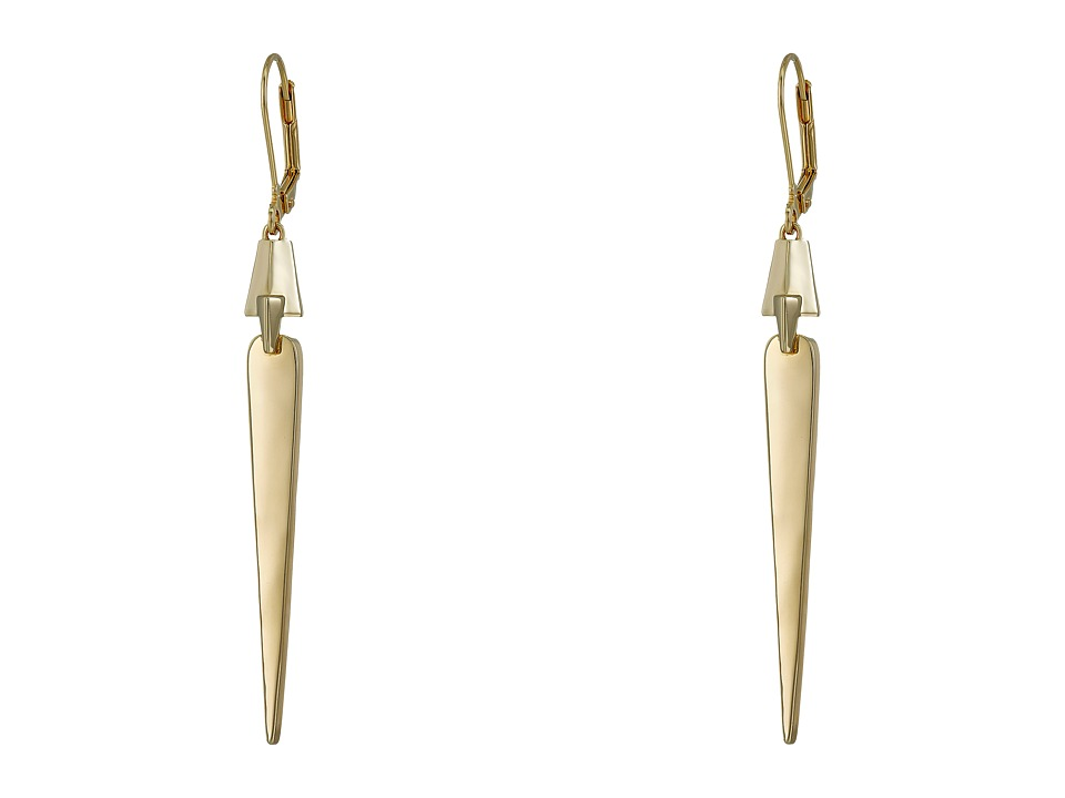 Cole Haan - Architectural Linear Earrings (Gold) Earring