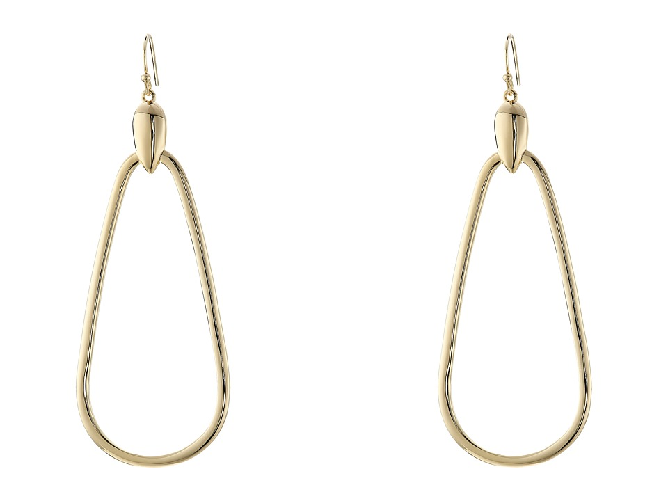 Cole Haan - Large Teardrop Earrings (Gold) Earring
