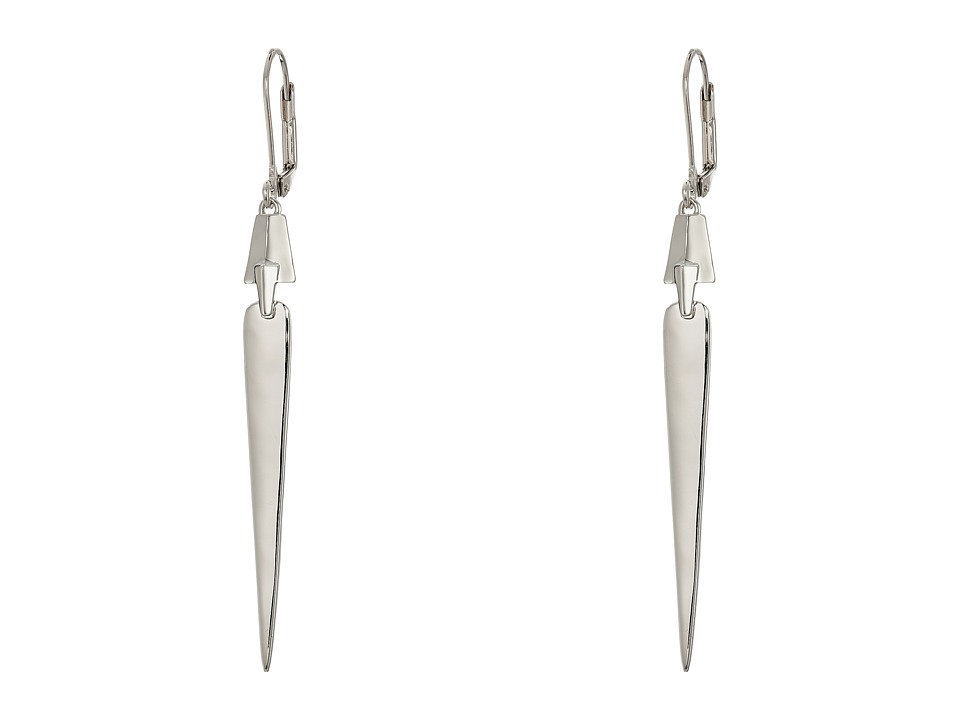 Cole Haan - Architectural Linear Earrings (Light Rhodium) Earring