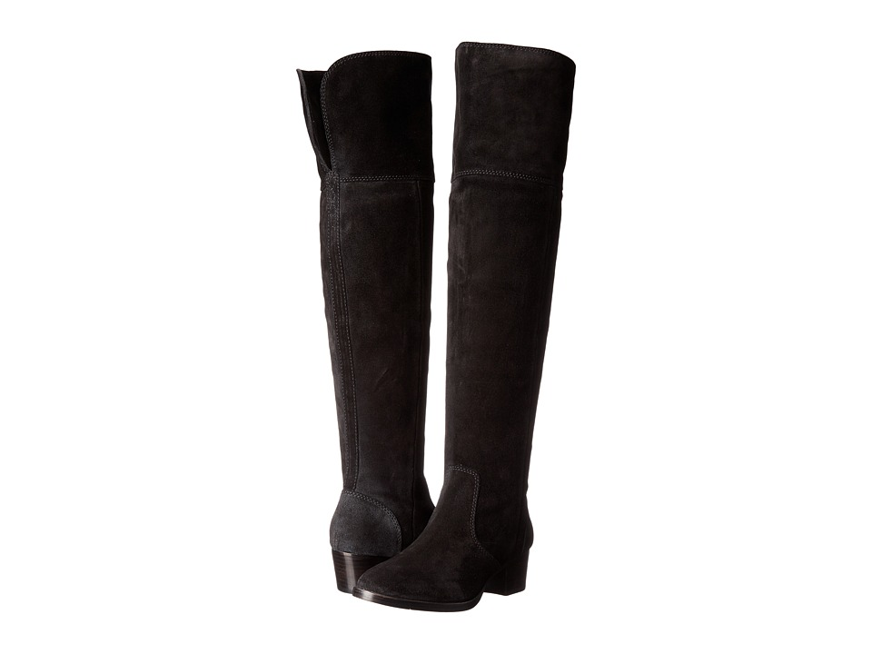 Frye - Clara Over-The-Knee (Black Oiled Suede) Women's Boots