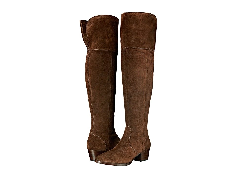 Frye - Clara Over-The-Knee (Brown Oiled Suede) Women's Boots