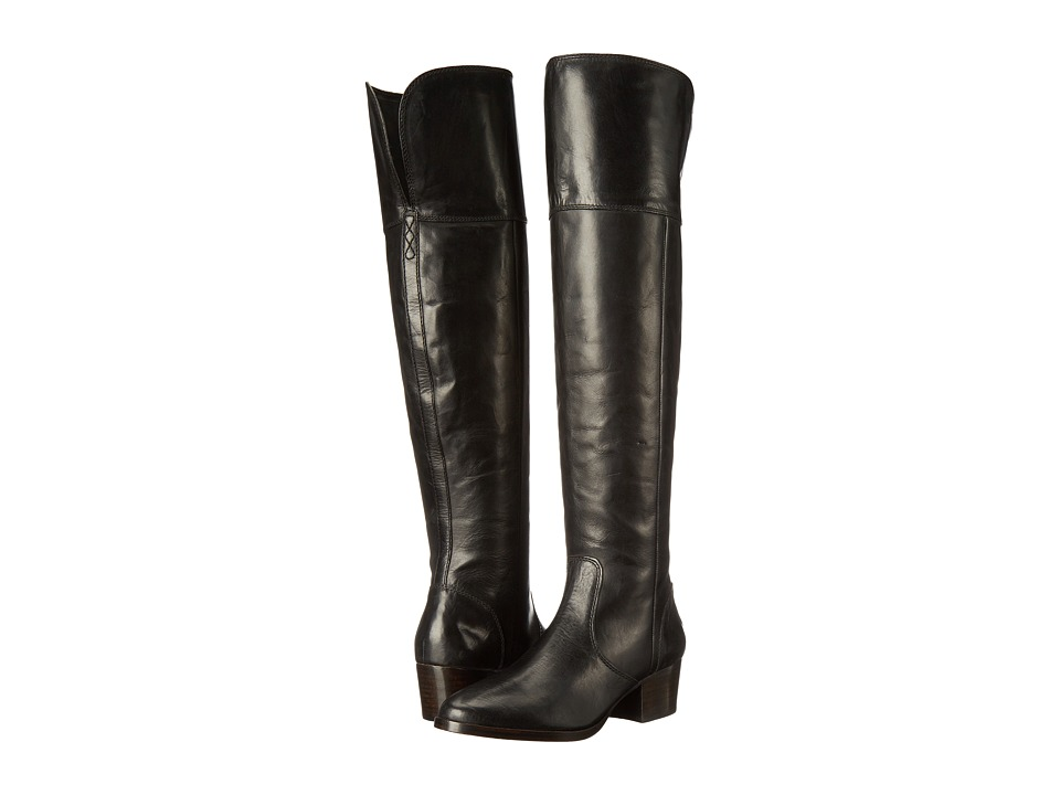 Frye - Clara Over-The-Knee (Black Smooth Vintage Leather) Women's Boots
