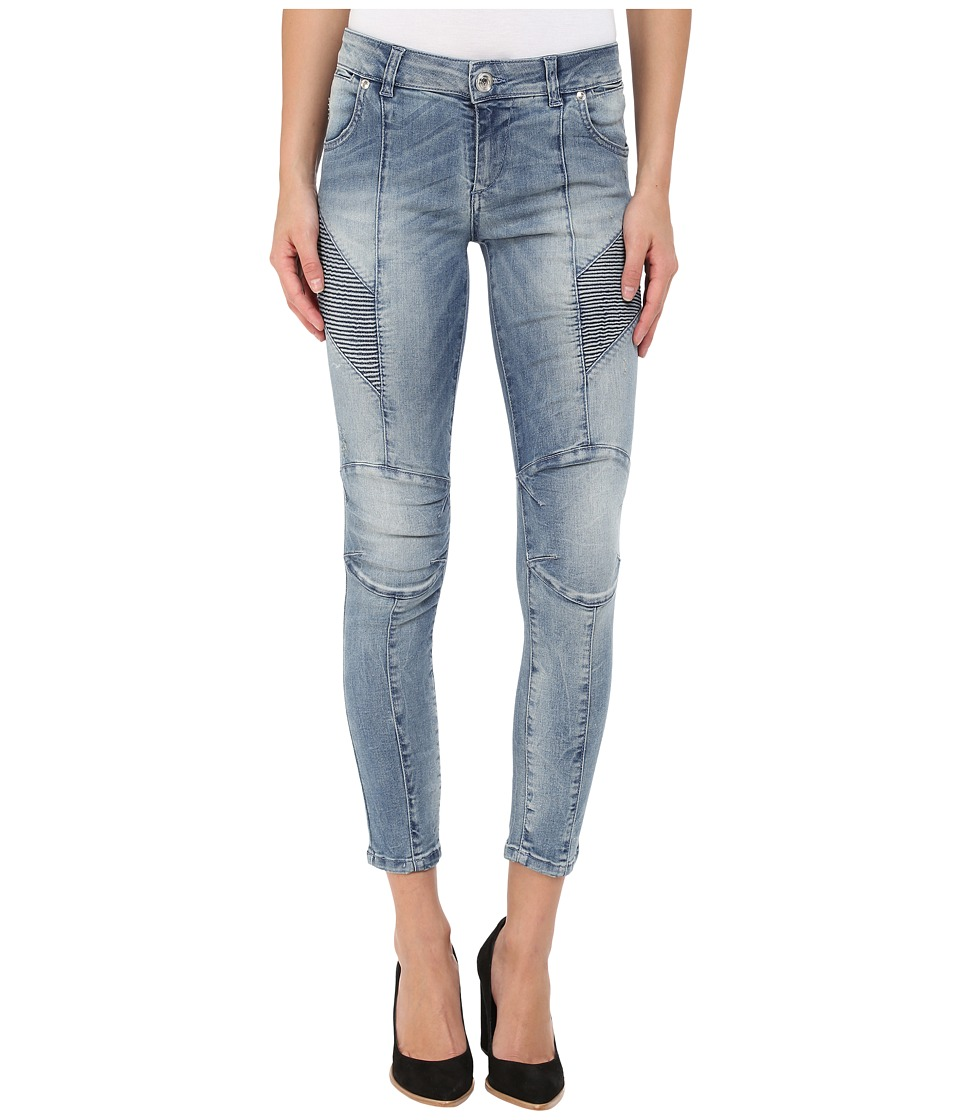 Pierre Balmain - Faded Biker Jeans (Denim Blue) Women's Jeans