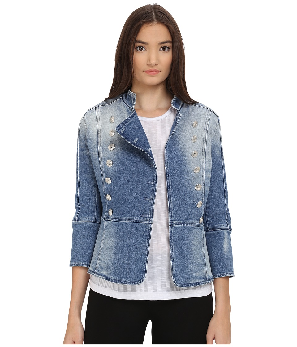 Pierre Balmain - Denim Embellished Jacket (Denim Blue) Women's Jacket