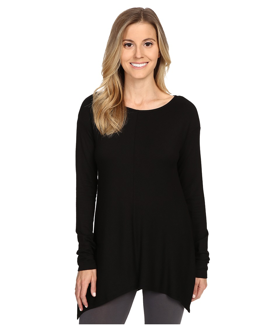 Natori - Terry Lounge Long Sleeve Top (Black) Women's Pajama