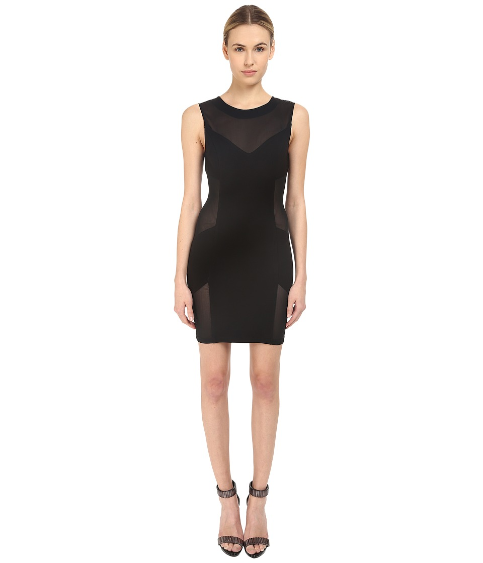 Pierre Balmain - Mesh Bodycon Dress (Black) Women's Dress