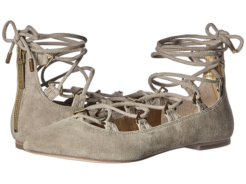 Pierre Balmain Lace-Up Ballet Flats (Mouse Grey) Women