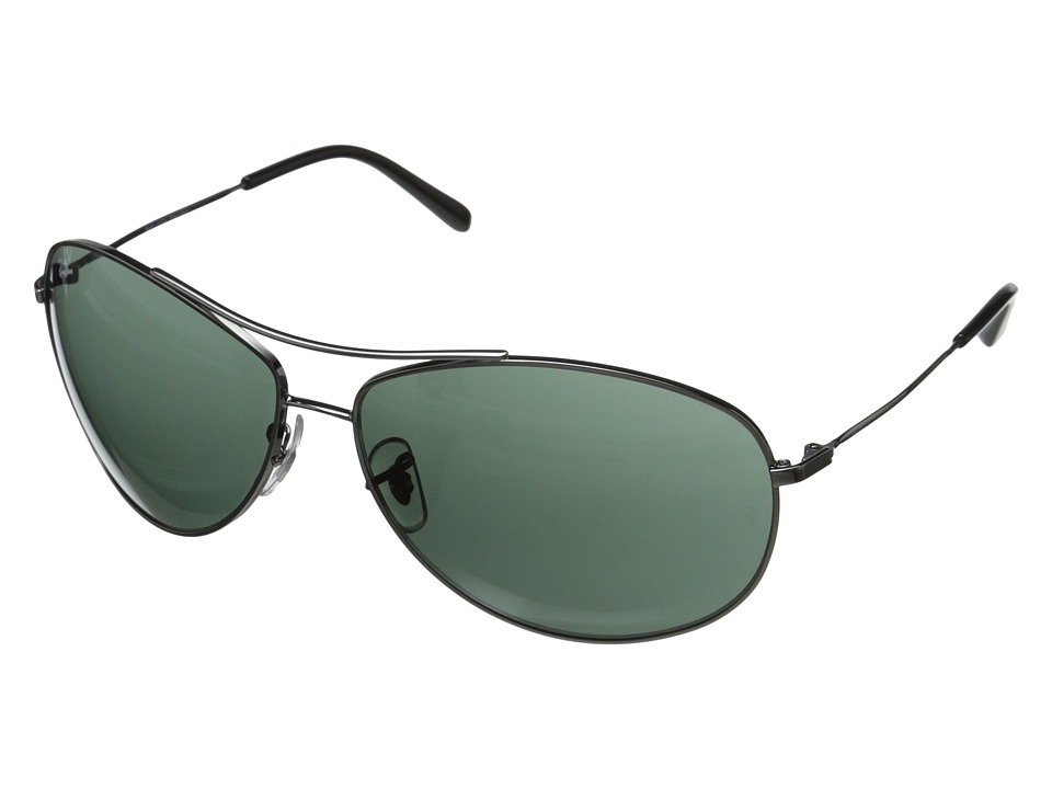 Ray-Ban - 0RB3454L (Gunmetal/Green) Fashion Sunglasses