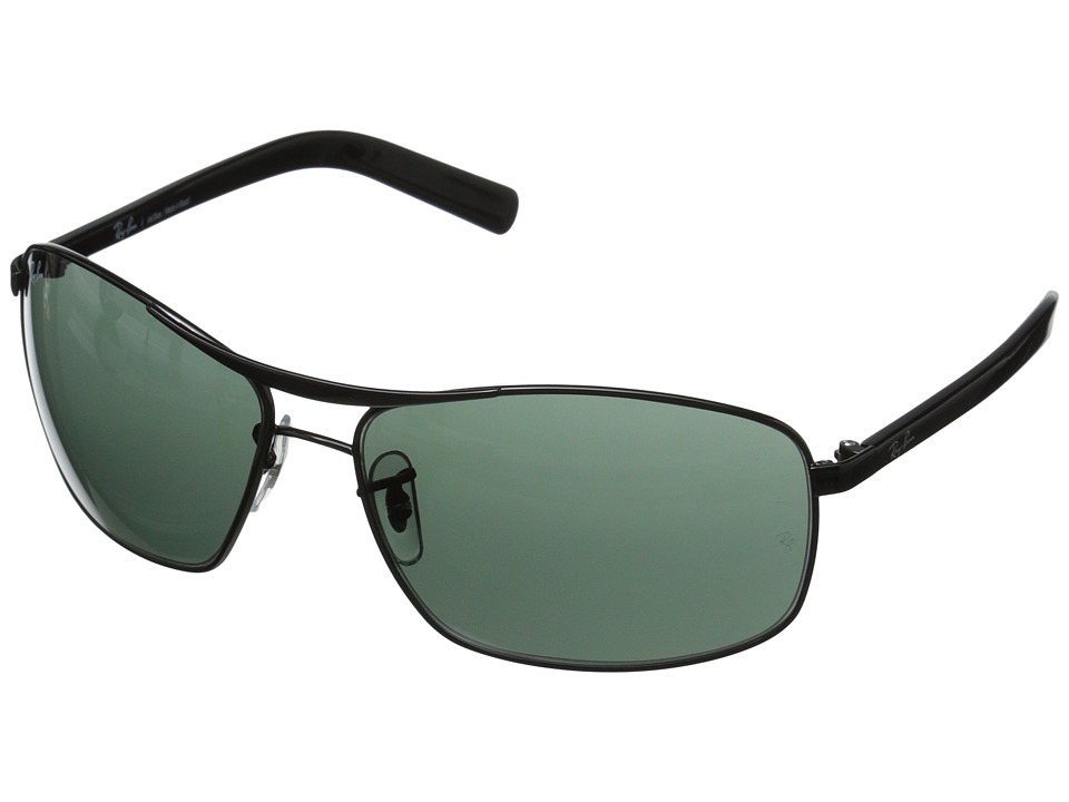 Ray-Ban - 0RB3470L (Black/Gray Green) Fashion Sunglasses