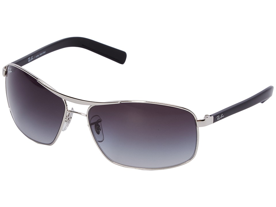 Ray-Ban - 0RB3470L (Silver/Gray Gradient) Fashion Sunglasses