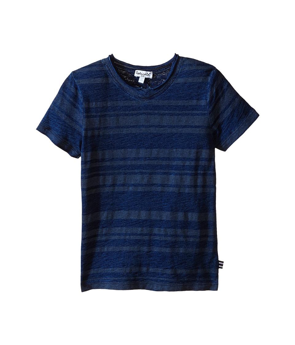 Splendid Littles - Striped Short Sleeve Tie-Dye Tee (Little Kids/Big Kids) (Navy) Boy's T Shirt