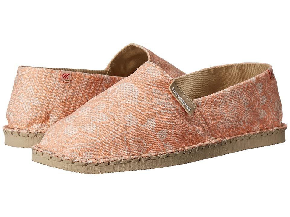 Havaianas - Origine Renda Tropical Flip Flops (Orange/White) Women's Sandals