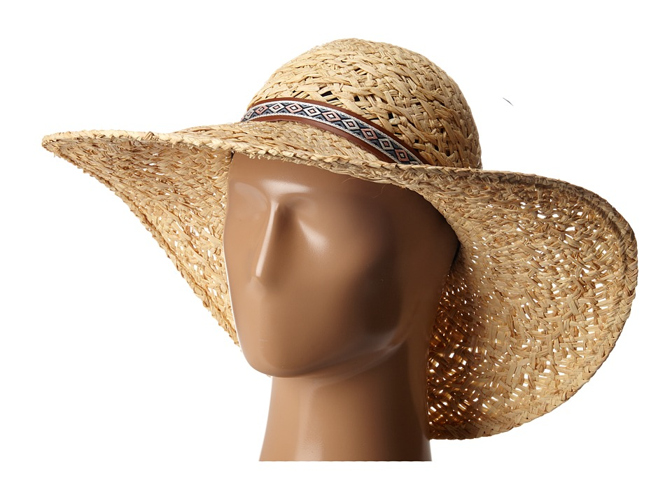 Karen Kane - Wide Brim Raffia Floppy (Natural) Caps