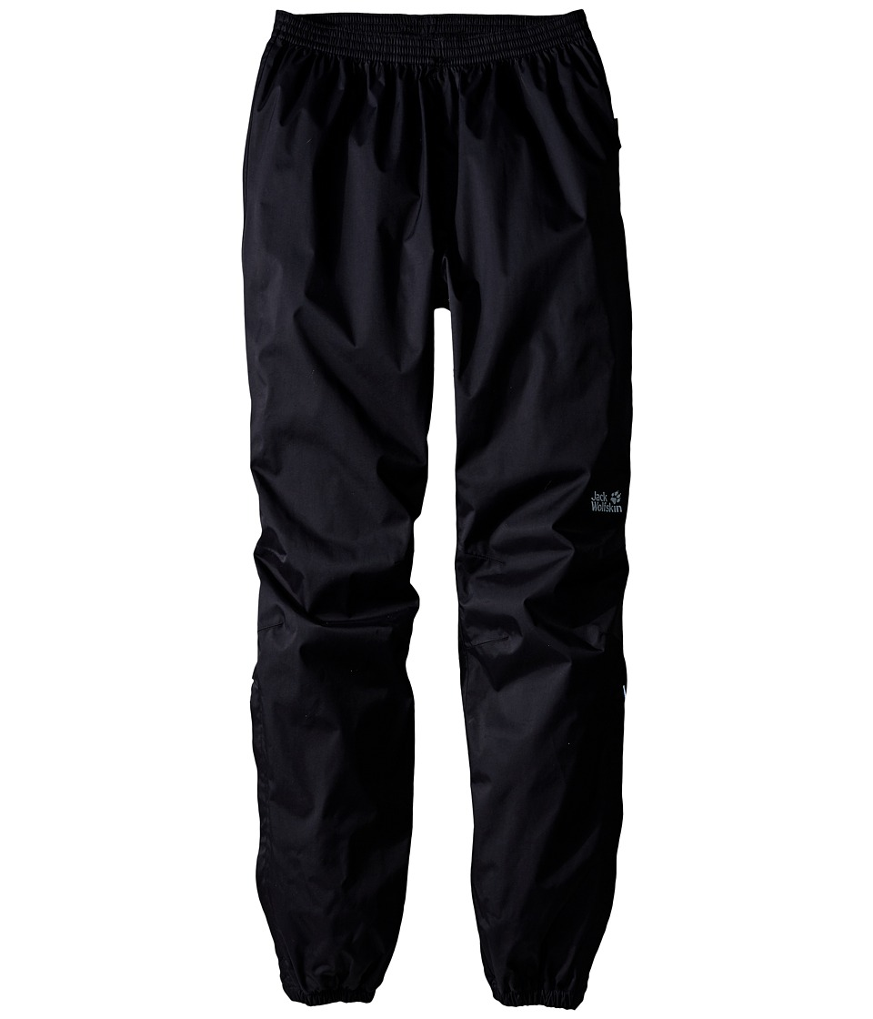 Jack Wolfskin Kids - Rain Pants (Little Kid/Big Kid) (Black) Kid's Casual Pants