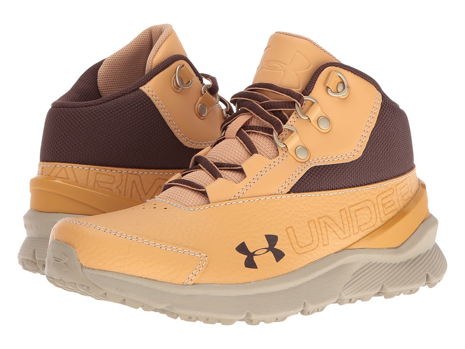 Under Armour Kids - UA BGS Overdrive Mid 2 TL (Big Kid) (Vegas Gold/Gune/Cleveland Brown) Boys Shoes