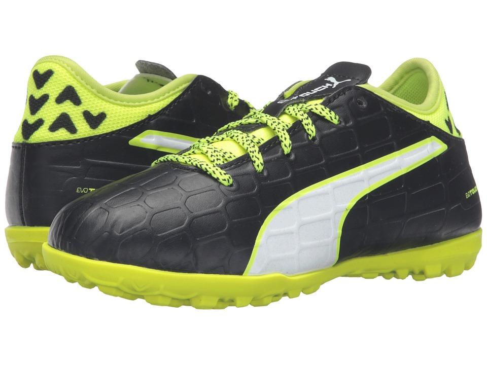 Puma Kids - evoTOUCH 3 TT Jr (Little Kid/Big Kid) (Black/White/Safety Yellow) Boys Shoes