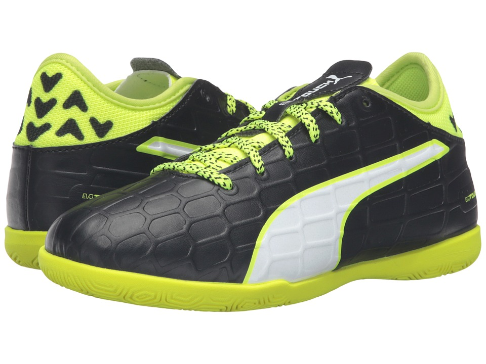 Puma Kids - evoTOUCH 3 IT Jr (Little Kid/Big Kid) (Black/White/Safety Yellow) Boys Shoes