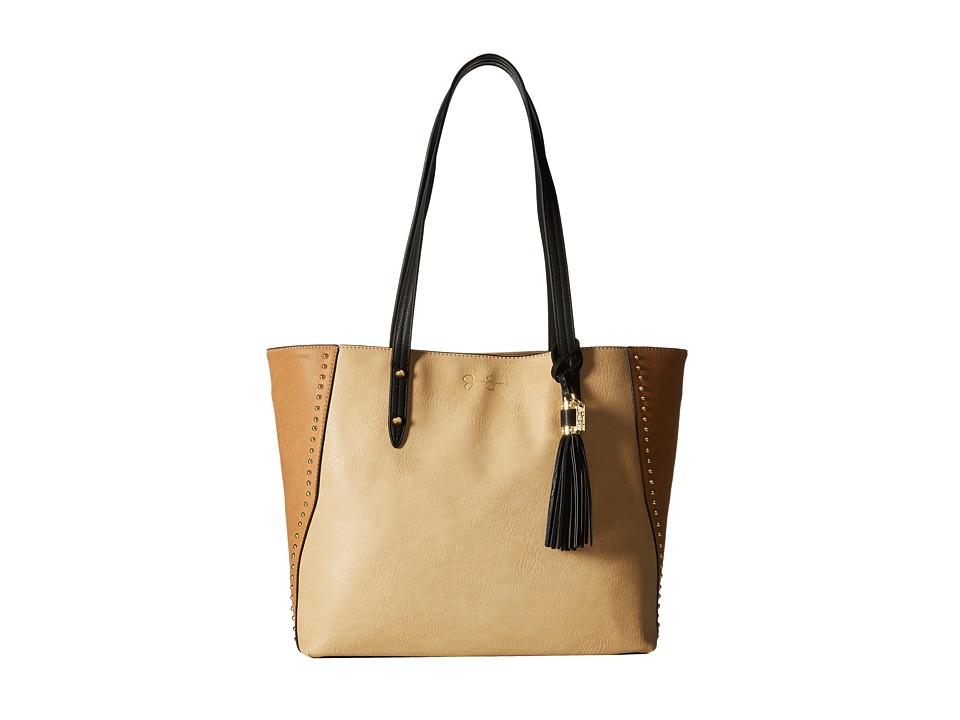 Jessica Simpson - Carole Tote (Beige/Latte/Black) Tote Handbags