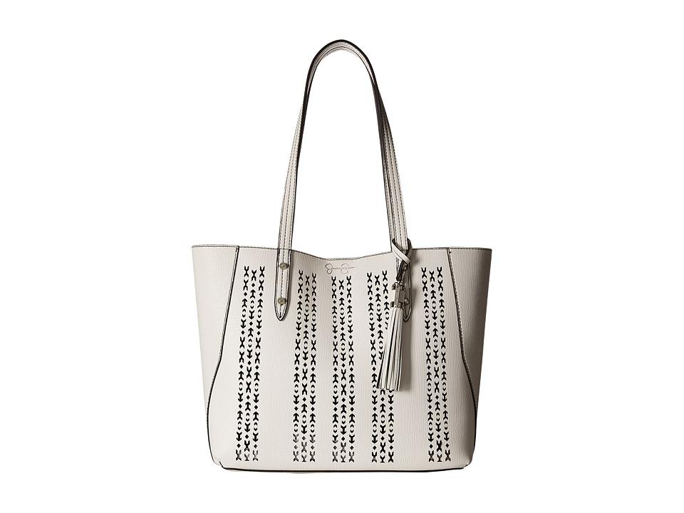 Jessica Simpson - Carole Laser Tote (White) Tote Handbags