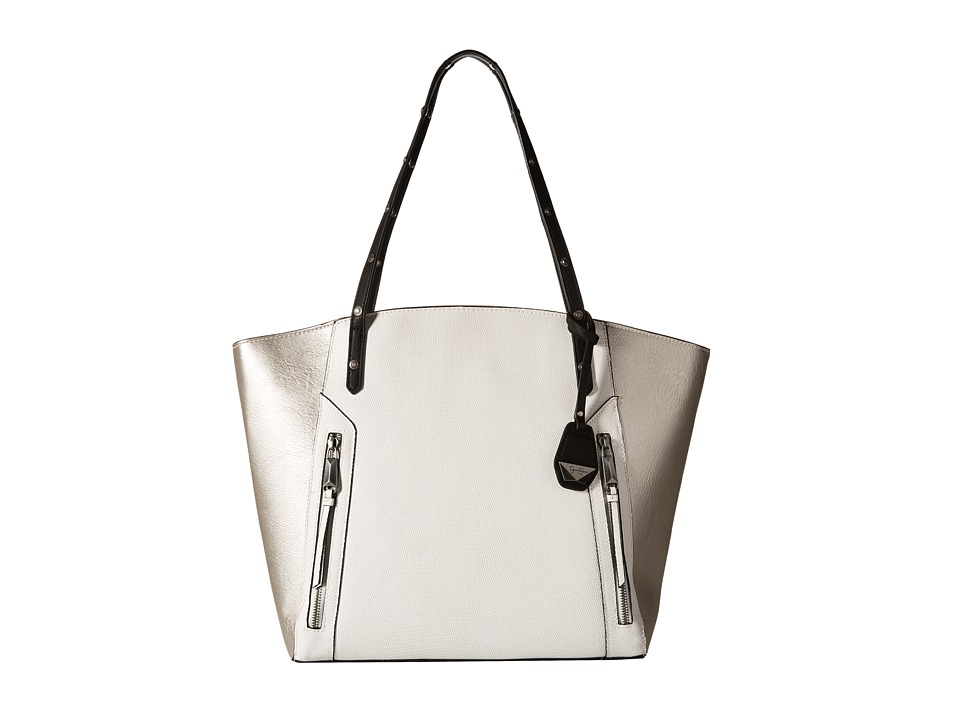 Jessica Simpson - Kyle Tote (White/Light Silver/Black) Tote Handbags