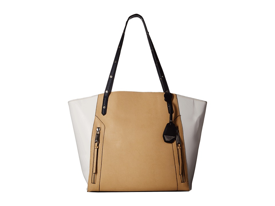 Jessica Simpson - Kyle Tote (Beige/White/Ink) Tote Handbags