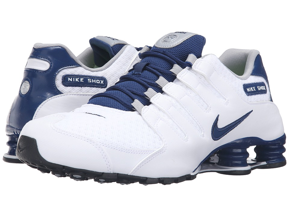 Nike - Shox NZ SE (White/Coastal Blue/Coastal Blue/Wolf Grey) Men's Running Shoes
