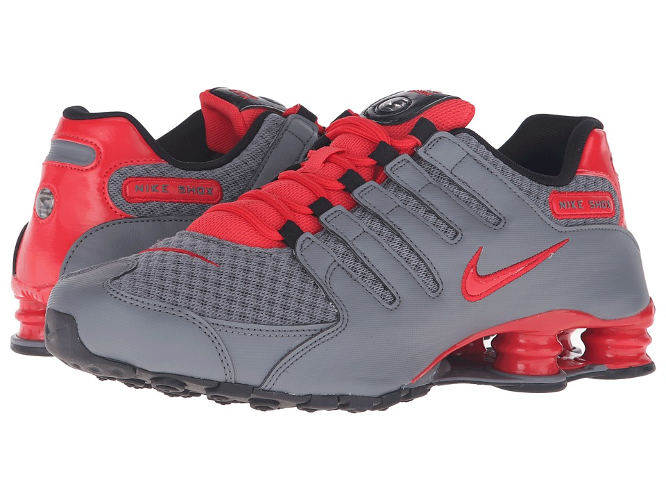 Nike - Shox NZ SE (Cool Grey/Action Red/Action Red/Black) Men's Running Shoes