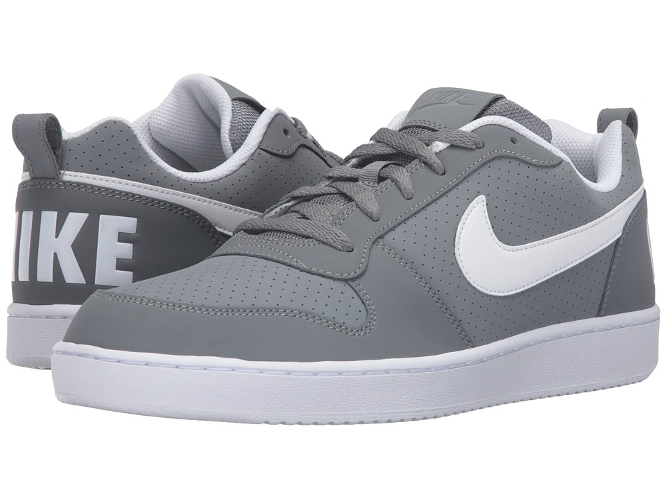 Nike - Court Borough (Cool Grey/White) Men's Basketball Shoes