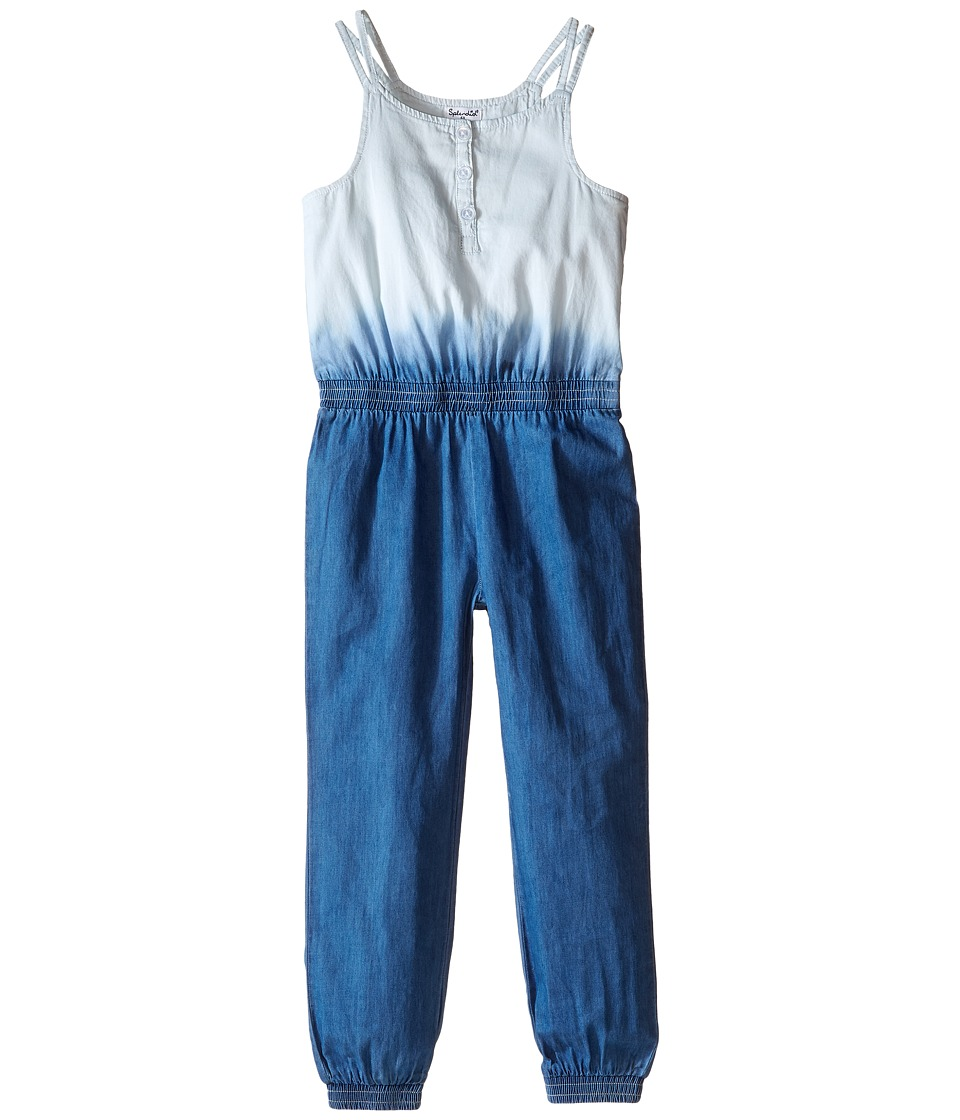 Splendid Littles - Bleach Out Denim Romper (Little Kids) (Indigo) Girl's Jumpsuit & Rompers One Piece