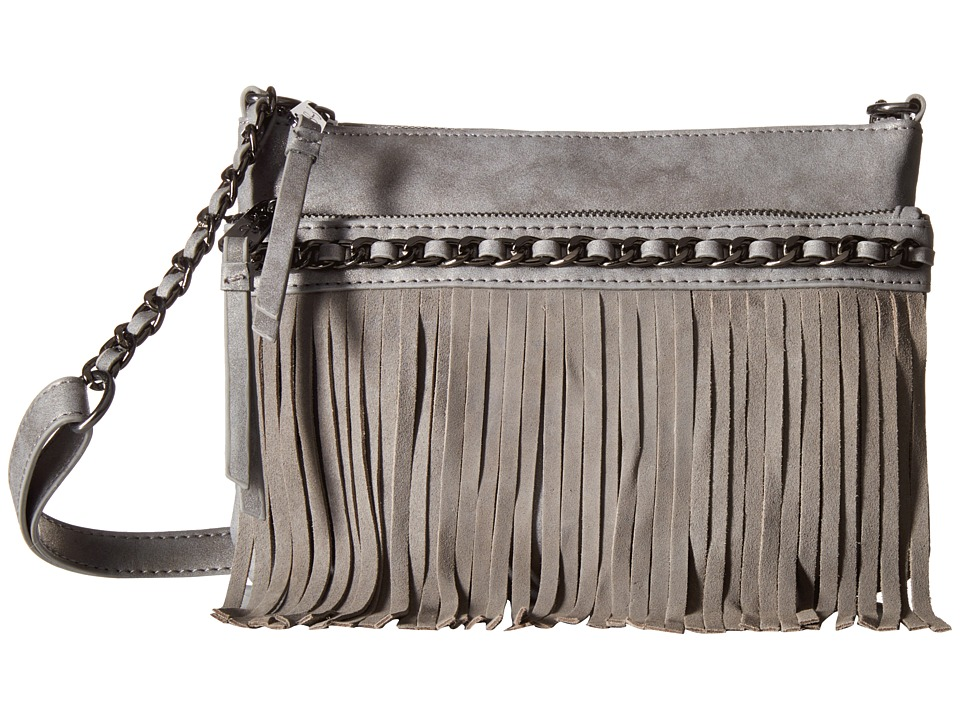 Jessica Simpson - Tyra Fringe Crossbody (Metallic Grey) Cross Body Handbags