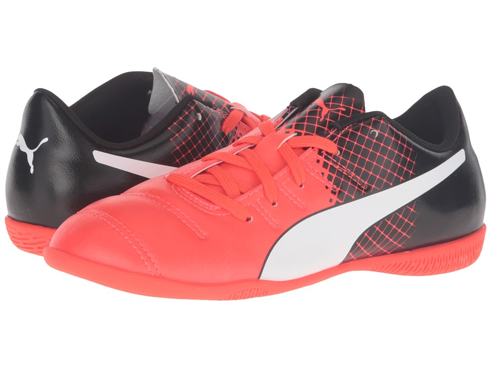 Puma Kids - evoPOWER 4.3 IT Jr Soccer (Little Kid/Big Kid) (Red Blast/Puma White/Puma Black) Boys Shoes