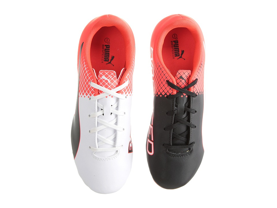 Puma Kids - evoSPEED 5.5 FG Jr Soccer (Little Kid/Big Kid) (Puma Black/Puma White/Red Blast) Boys Shoes