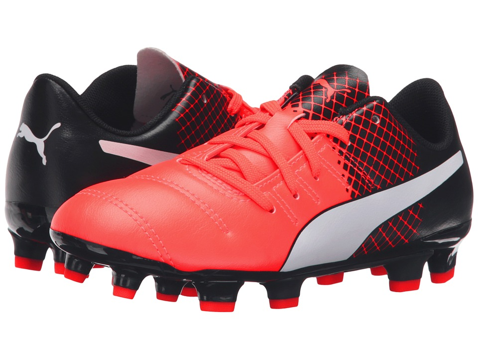 Puma Kids evoPOWER 4.3 FG Jr (Little Kid/Big Kid) (Red Blast/Puma White/Puma Black) Boys Shoes