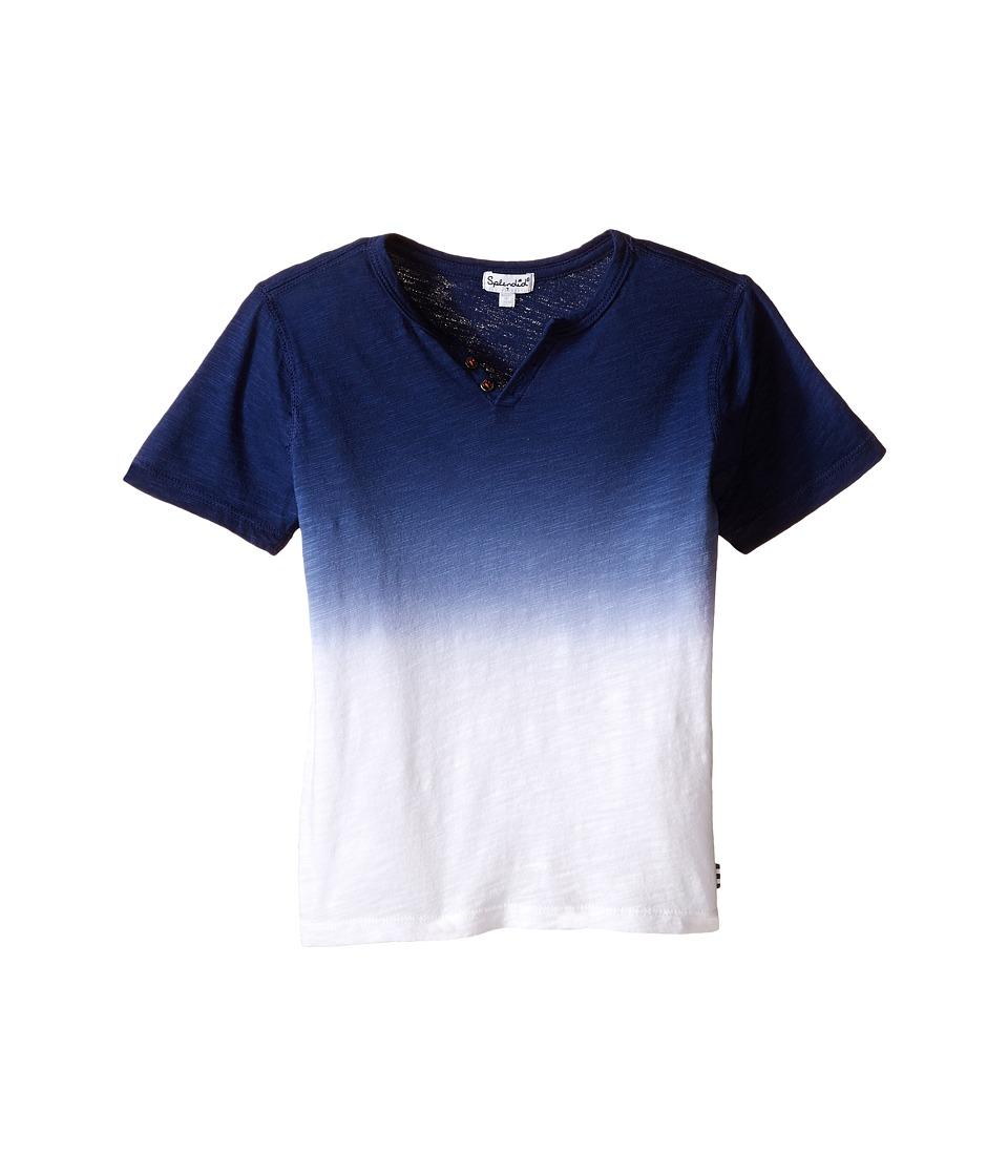 Splendid Littles - Short Sleeve Dip Dye Tee (Little Kids/Big Kids) (Navy) Boy's T Shirt