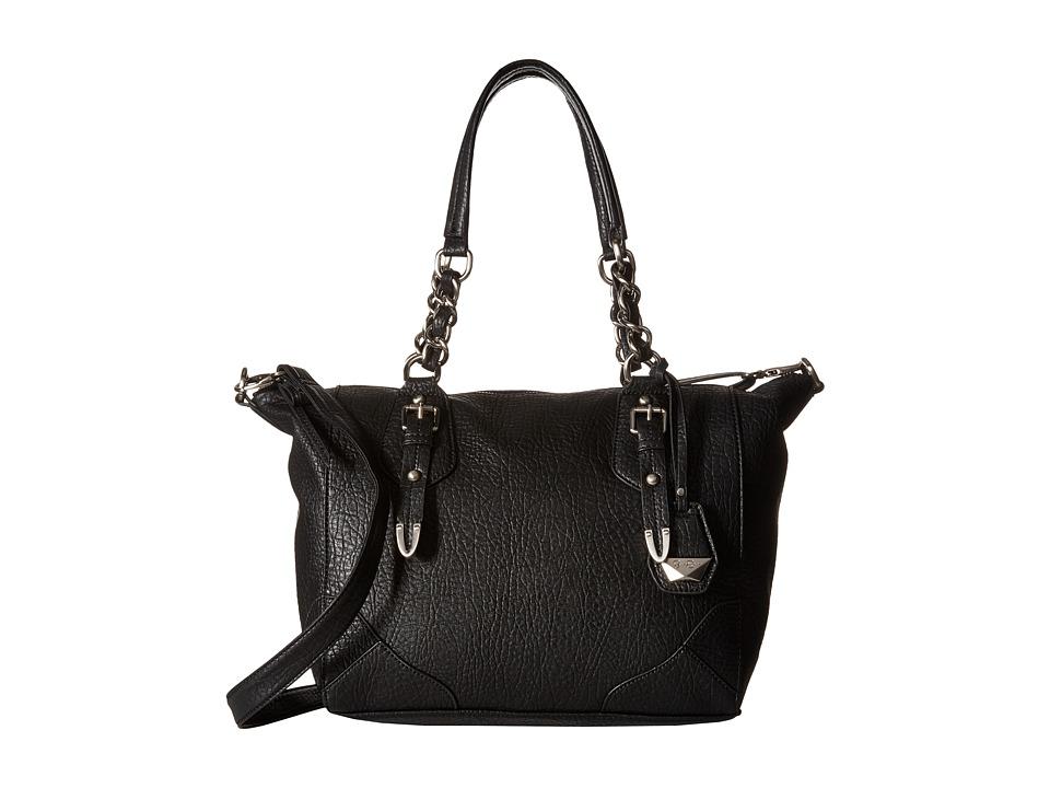 Jessica Simpson - Cindy Crossbody Satchel (Black) Satchel Handbags